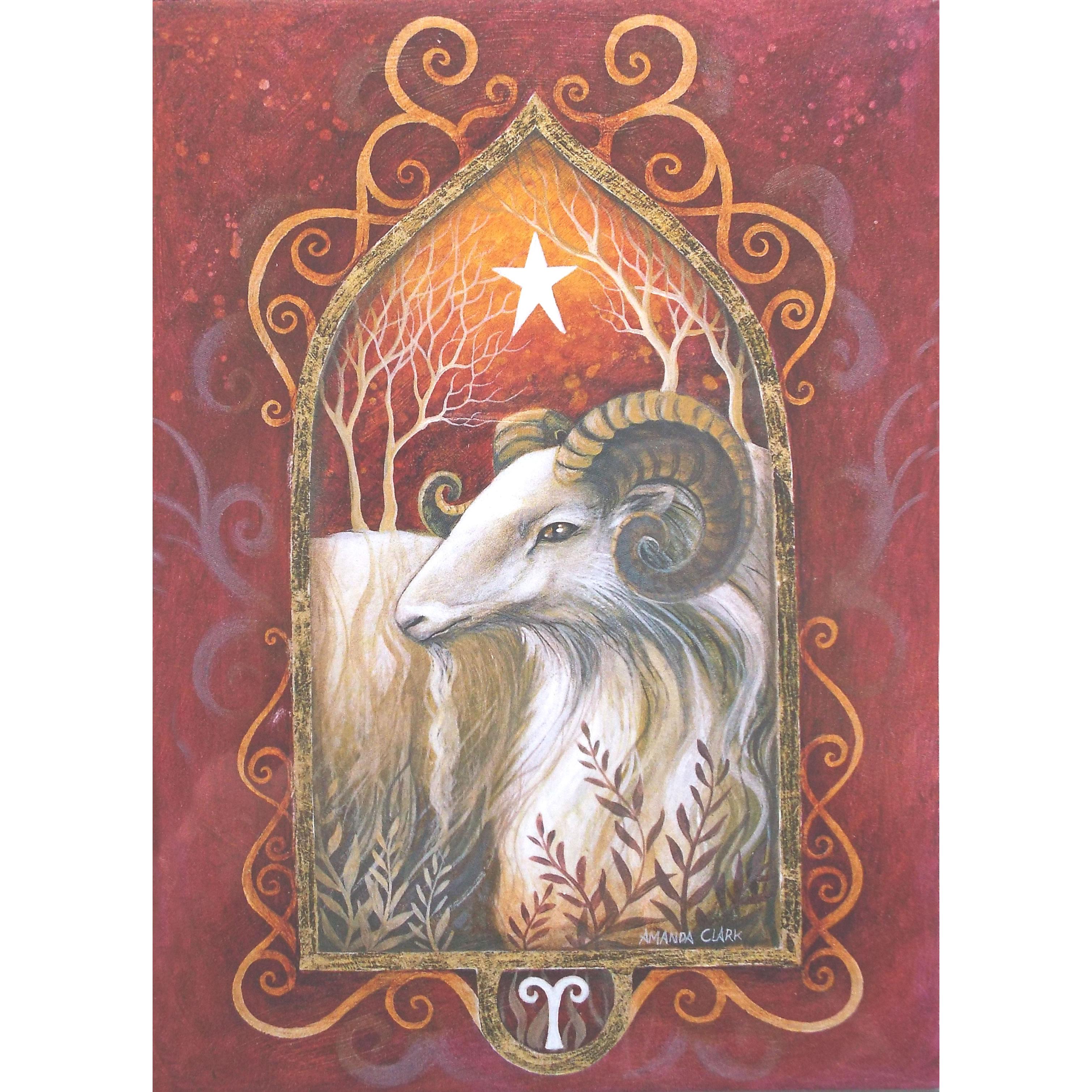 Aries Zodiac Sun Sign Greetings Card