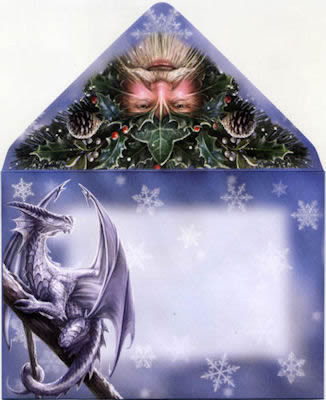 Yule angel greetings card by anne stokes envelope for yule angel greetings card by anne stokes m4hsunfo