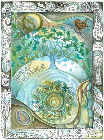 Yule greetings card by jaine rose m4hsunfo