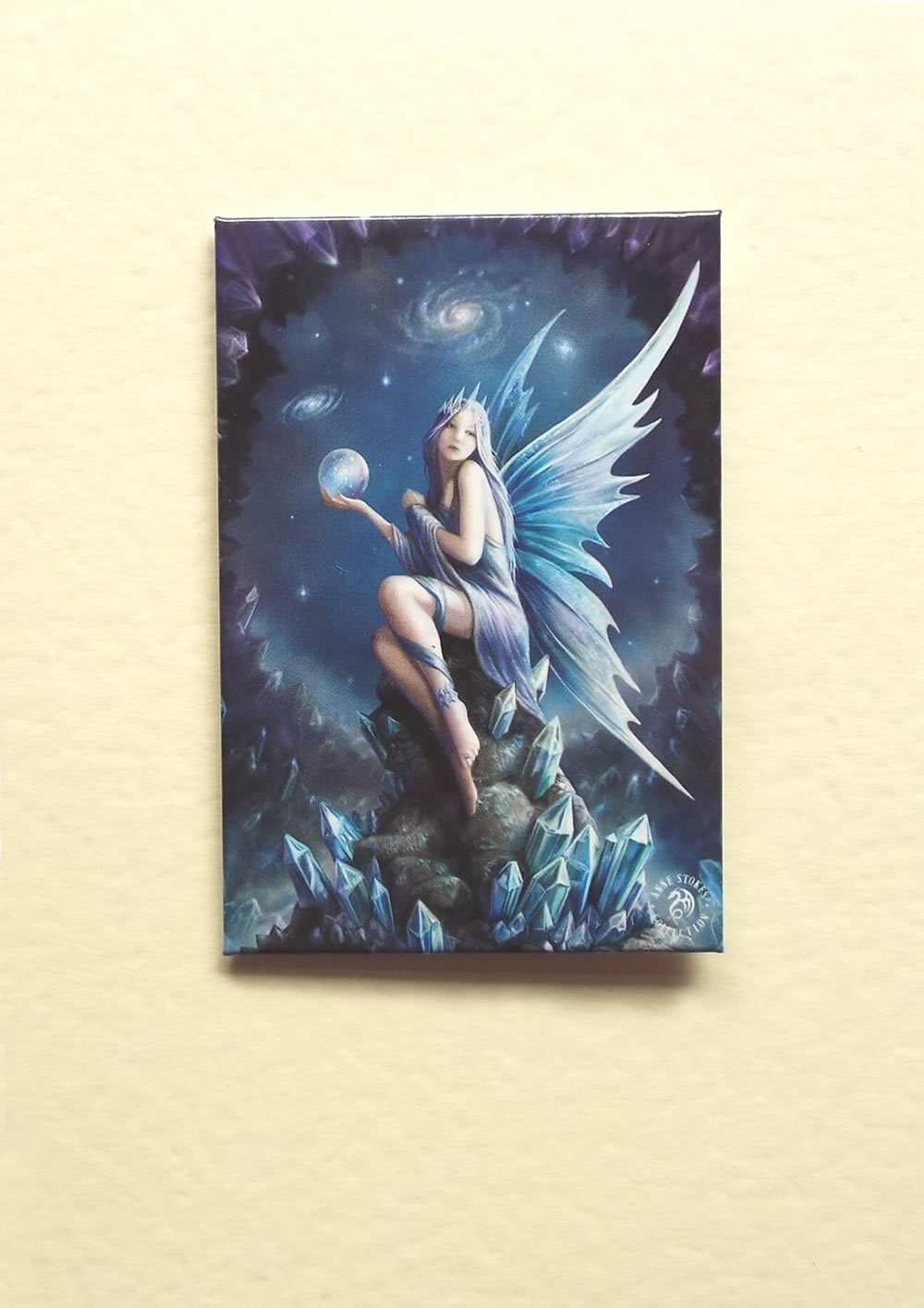 Crystal fairy greetings card by anne stokes with detachable magnet m4hsunfo