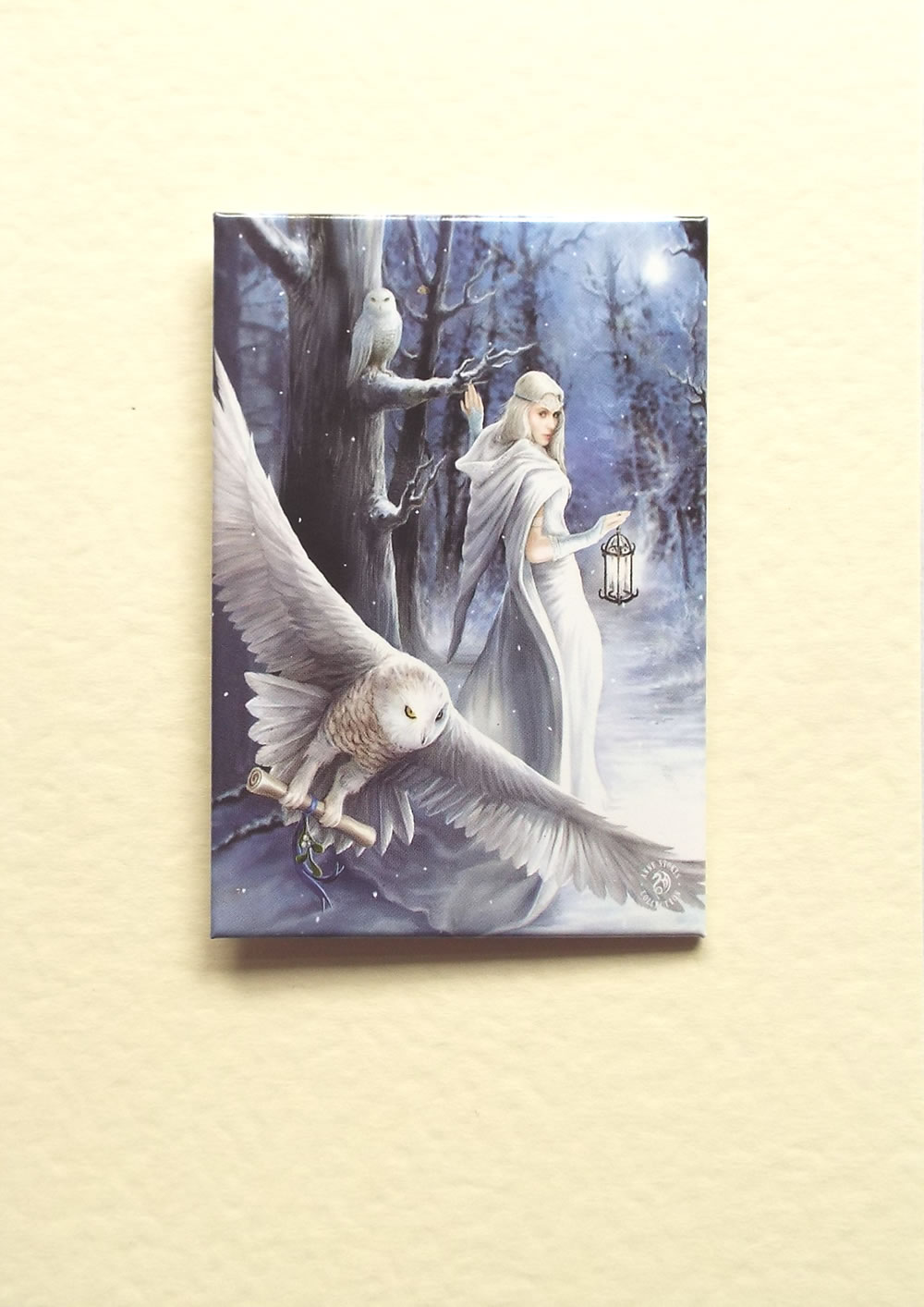 White owl midnight messenger greetings card by anne stokes with midnight messenger greetings card by anne stokes with detachable magnet m4hsunfo