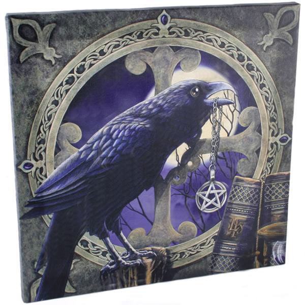 Large Talisman Raven Canvas Picture by Lisa Parker