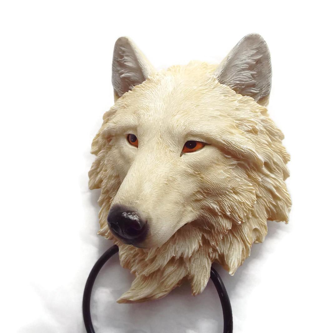 White Wolf Door Knocker Detail